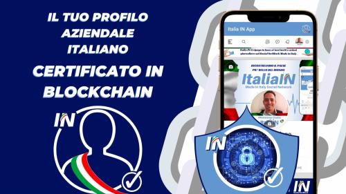 Profilo aziendale certificato in Blockchain